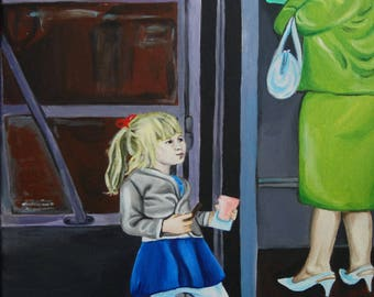 TELEPHONE acrylic painting original