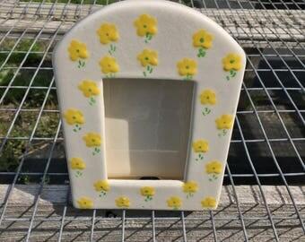 Handpainted Yellow Flower Frame