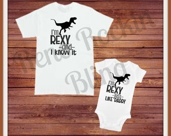 Custom Vinyl Daddy and son matching shirts