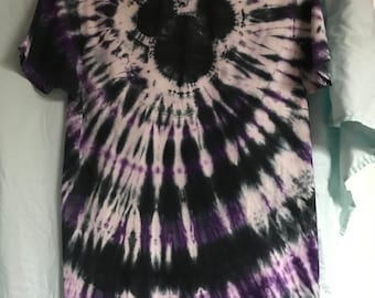 Tie Dye T-shirt - Mickey Mouse - Purple Black Adult or Child Boy or Girl Any Size Available Spiral Disney World Halloween Spiral