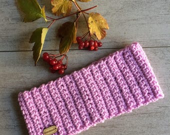 Pink crochet headband, women headband, bandeau, turbans, running ear warmer, head warmer, cold weather headband, crochet band,Holiday gifts.