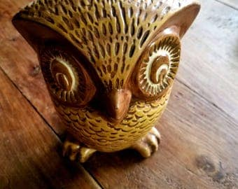Vintage Ceramic Owl Figurine, Ceramic Owl, Owl Figurines