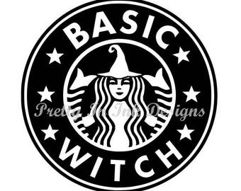 Basic Witch Starbucks Like Decal