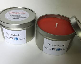 Tangerine 8oz Soy Candle