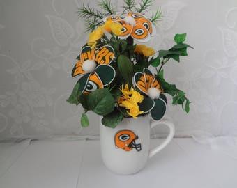 Green Bay Packer Floral Arrangement #2182