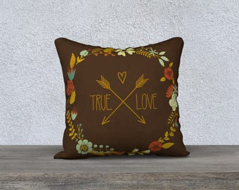 True Love Pillow cover, Valentines day pillow, Valentines day gift, Heart PILLOW, Love pillow