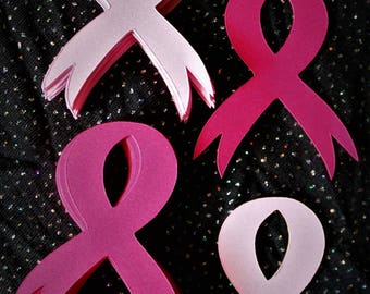 Breast Cancer Awreness Ribbon Die Cuts - 40