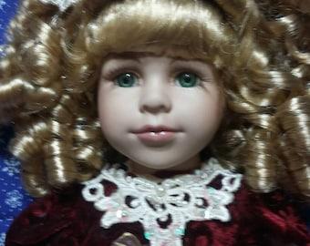 Winter Beauty porcelain doll