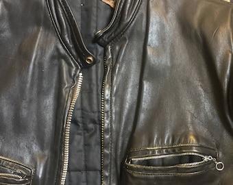 1960s cafe racer leather jacket!