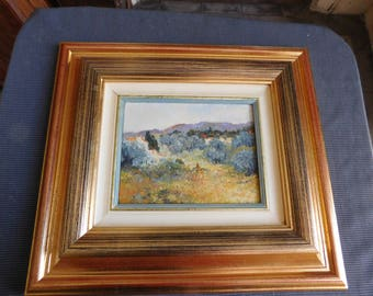 oil on board provence countryside