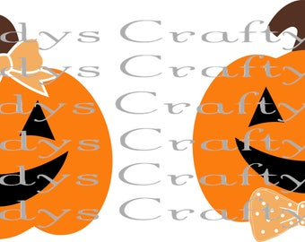 SVG AND DXF Mr and Mrs Pumpkin