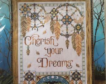 """Cross Stitch Kit -A """"Cherish your Dreams"""" counted cross stitch kit. beautiful"""