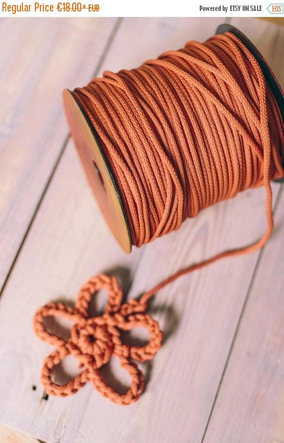 SALE 30 % DIRTY RED cord, craft projects, chunky yarn, crochet rope, diy projects, crochet supplies, rope, yarn, knitting yarn, knitting sup
