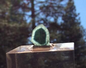 Beautiful 7 ct indicolite slice from Dara Pech, Kunar (8-X)