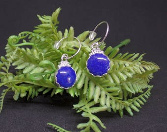 Lapis Lazuli Earrings, Blue Lapis Earrings, Sterling Lapis Earrings, 925, Under 75, Lapis Earrings, Lapis Lazuli Jewelry, Ladies Lapis, 1406
