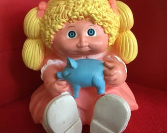 Vintage Cabbage Patch Kid Coin Bank, 1983
