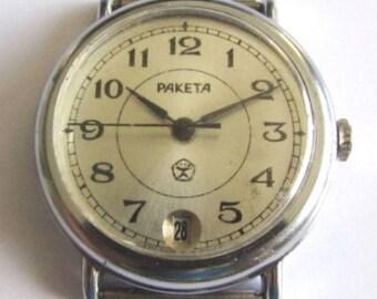 Rare Soviet/USSR men's wrist watch - RAKETA