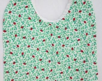 LADYBUGS! Lots of Cute, Little Ladybugs! Baby Bib- Reversible 100% Cotton