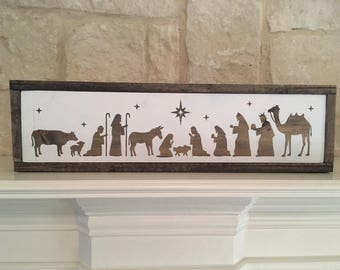 Frames Wood Nativity