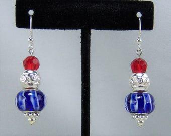 E212 - Patriotic Earrings
