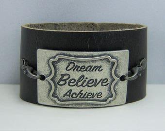B224, Leather Cuff Bracelet