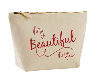 My Beautiful Mother Design Canvas Make Up Bag Personalised Gifts for her