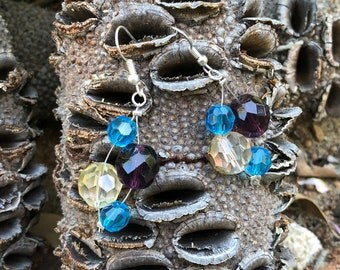 Acrylic Gemstones earrings