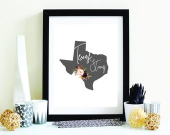 Hurricane Harvey Relief | INSTANT DOWNLOAD | Texas Strong Printable | Grey