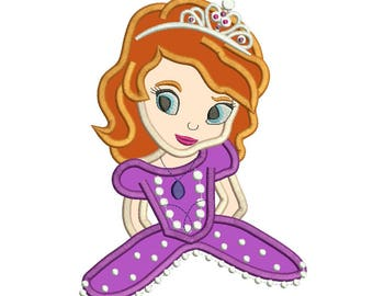 Sofia Princess Applique Design 3 sizes instant download