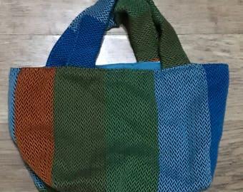 Reversible Lenny lamb wrap scrap bag
