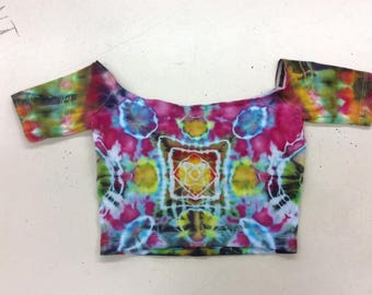 XS crop top ice dyed