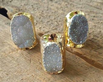 Boho Luxe Druzy Ring