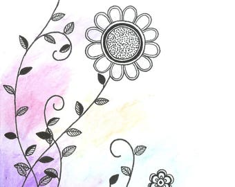 Watercolor Floral Card-Design 3