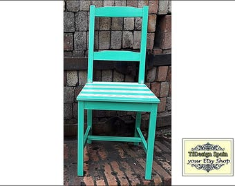 Chair Turquoise, Turquoise chair for sale, Turquoise armless chair, Turquoise occasional chair, Turquoise wooden chair, Turquoise lawn chair