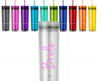 16oz Personalized Customized Skinny Tumblers