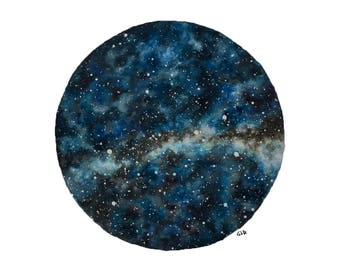 FINE ART PRINT of Original Star Chart Watercolor Painting, Night Sky, Stars
