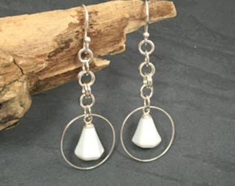 Porcelain Diamond Earrings