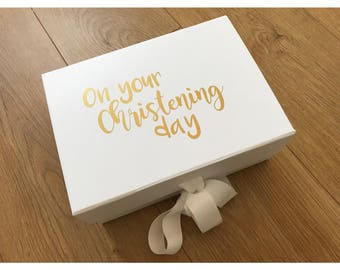 Christening gift box