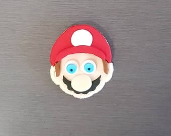 6 x Mario Cupcake Topper, Fondant Mario decorations, edible Mario cake toppers