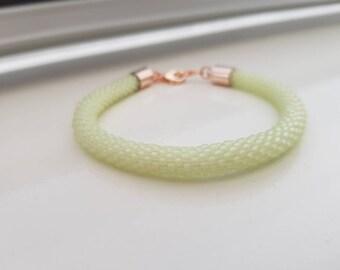 Crochet bracelet lemon