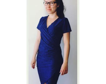 Dress - tulip shape. Perfect for breastfeeding (but not only)