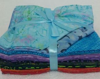 Batik Fat Quarters Multicolour Tones  - 18 Pack