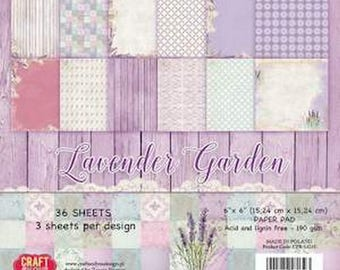36 papers 15.2 x 15.2 cm aand you LAVENDER GARDEN Craft