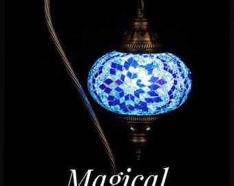 Handmade Turkish Mosaic Glass Lamps, Turkish Lamp, Table Lamp, Arabian Lamps