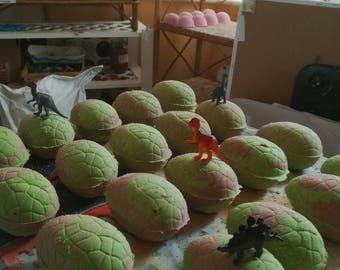 Dinosaur Bath Bomb Eggs with Hidden Dinosaur Toy! Receive two!!!