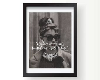Audrey Hepburn Breakfast at Tiffany's print