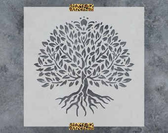Yggdrasil Tree of Life Stencil - Reusable DIY Craft Stencils of a Yggdrasil Tree of Life