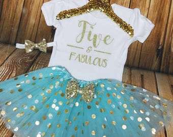5th birthday shirt, 5th birthday outfit, 5th birthday girl, 5th birthday, FIVE and FABULOUS outfit, Five and Fabulous, five birthday shirt