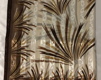 Brown ,black  and beige scarf ,shawl ,Turkish scarf ,Turkish shawl ,polyester fabric scarf ,made in Turkey .