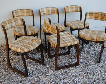 vintage sleigh 6 chairs